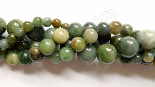 Chinese Green Jade Natural A  -  Smooth Round  16""