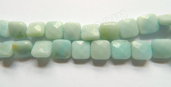 Chinese Amazonite  -  Faceted Squares  16""