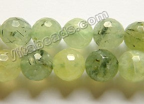 Prehnite Natural A  -  Faceted Round  16""