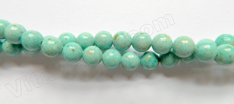 Color Fossil Agate  15  -  Smooth Round Beads 16""