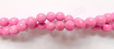 Color Fossil Agate  28  -  Smooth Round Beads 16""