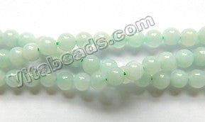 Amazonite A  - Small Smooth Round Beads  16""