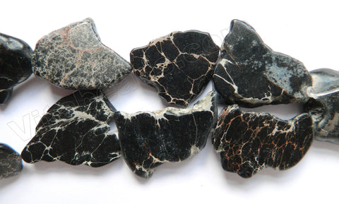 Black Impression Jasper  -  Irregular Slabs 16""