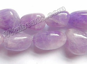 Natural Cloudy Amethyst A  -  Smooth Tumble 16""