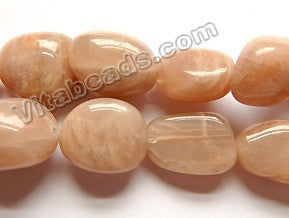 Natural Pink Moonstone A  -  Smooth Tumble 16""
