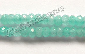 Light Green Apatite Jade  -  4mm Small Faceted Rondel  14.5""