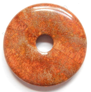 Smooth Pendant - Donut Bright Brown Impression Jasper