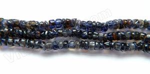 "Iolite Dark  -  Heishi Button  14""    4mm"