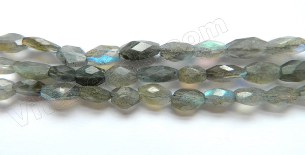 Labradorite AA  -  7-10mm Faceted Oval  13.5""