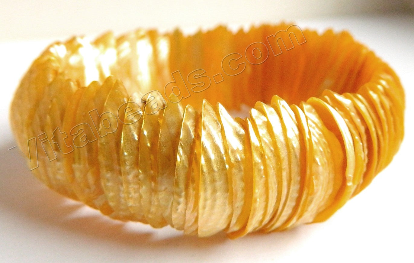 Shell  - Gold Long Tooth Bracelet