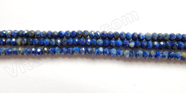 Lapis Lazuli AAA  -  Small Faceted Rondel 16""
