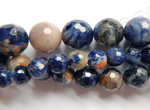 Orange Sodalite AA  -  Faceted Round  16""