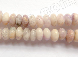 "Pale Flower Sugilite  -  Smooth Rondel  16""     6 x 4 mm"