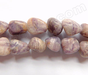 Flower Sugilite  -  10-12mm Smooth Tumble 16""
