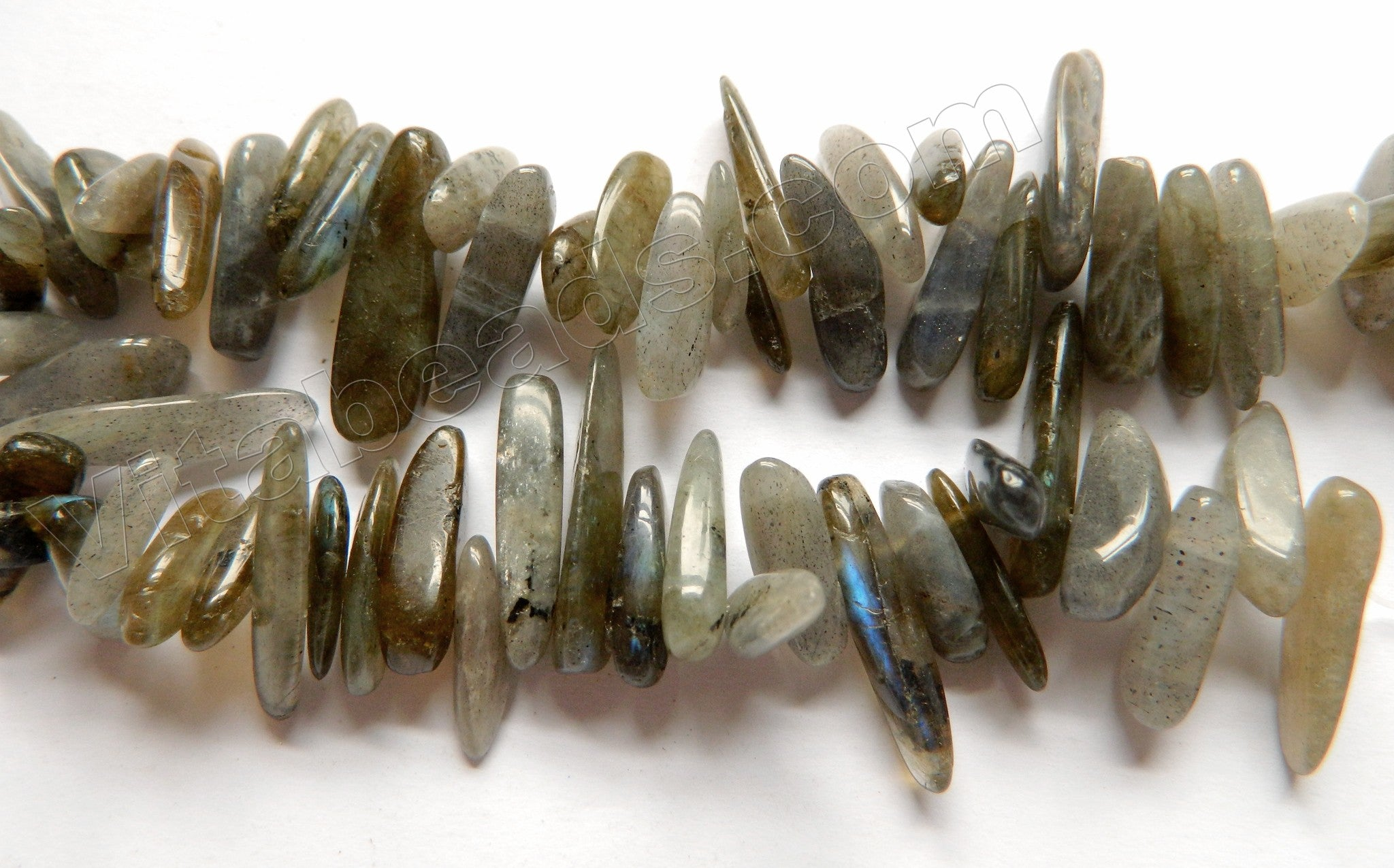 "Labradorite  -  Smooth Sticks 16""     15 - 25 mm"