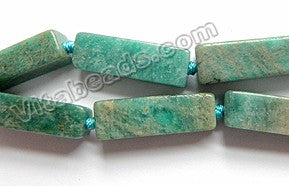 Russian Amazonite AB   -   8x30x10mm Big Cuboids, Rectangle 15""