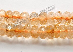 Citrine Dark   -  Faceted Rondels  16""