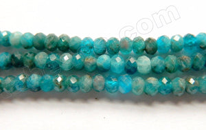 Apatite w Brown HK Natural AAA  -  Small Faceted Rondel  16""