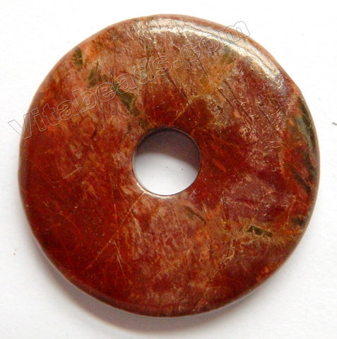 Smooth Pendant - Donut - Fire Impression Jasper - 04