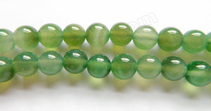"Light Green Onyx   -  Smooth Round  16""     12 mm"