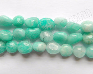 Light Russian Amazonite  A  -  6-9mm Small Tumble  16""