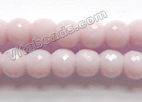 Light Rose Purple Chalcedony Qtz  -  8x6mm Faceted Drum 9""