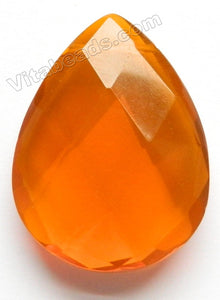 Faceted Pendant - Briolette - Orange Crystal