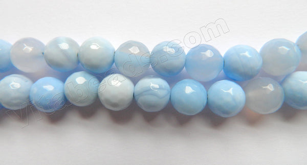 Blue Lace Agate  -  Faceted Round
