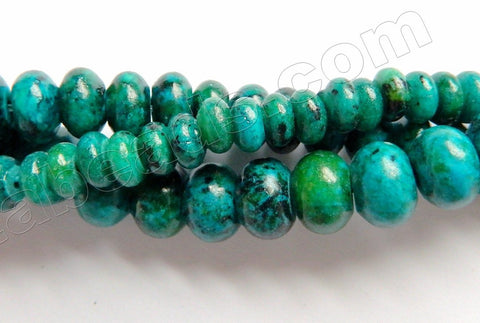Azurite Malachite Turquoise  -  Smooth Rondel  15""