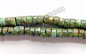 Africa Turquoise  -  Small Heishi 16""