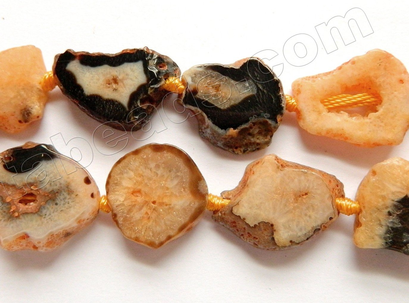 Orange Fire Agate w/ Black  -  Irregular Flat Slabs 17""