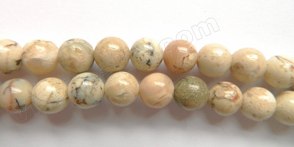 Africa Opal A  -  Smooth Round Beads  16""