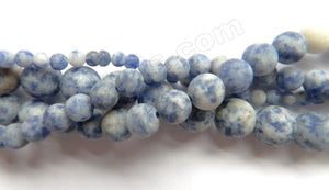 Frosted Blue Spot Stone  -  Smooth Round  16""
