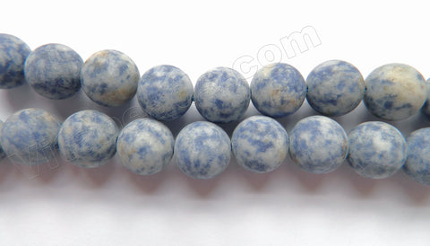 Frosted Blue Spot Stone  -  Big Smooth Round  16""