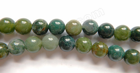 Moss Agate - Smooth Round  16""