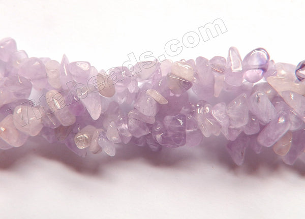 Light Amethyst Quartz  -  Chips 36""