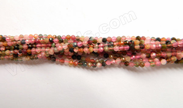 Tourmaline Natural AAA  -  Small Faceted Round  15""