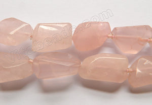 Rose Quartz (India Handmade) Natural  -  Smooth Cut Tumble  16""