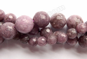 Lepidolite  -  Faceted Round  16""
