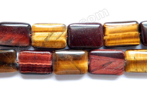 Red &. Yellow Tiger Eye  -  Puff Rectangles 16""