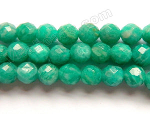 Russia Amazonite AAA  -  Faceted Round Beads  16""
