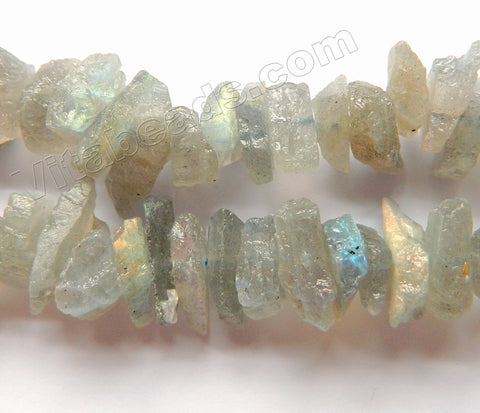 Light Labradorite Natural AA  -  Center Drilled Rough Nugget Chips 16""