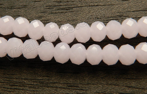 Pink Chalcedony Qtz  -  Faceted Rondel   16""