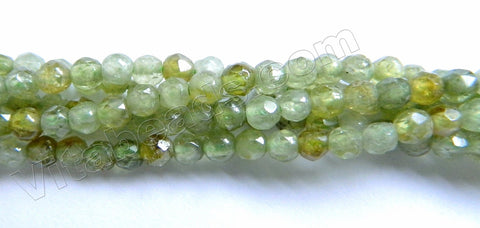 Green Garnet  -  Small Faceted Round  16""