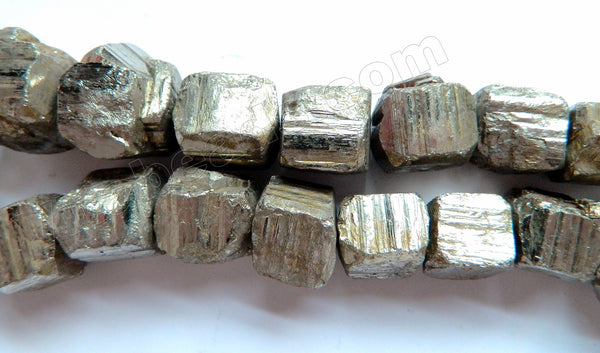 Pyrite AAA Rough  -  Graduated Cut Irregular Cubes  16""