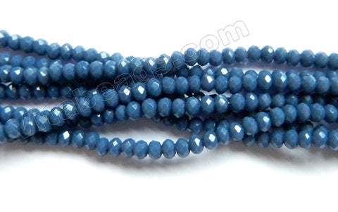Iolite Blue Quartz  -  Small Faceted Rondel  16""