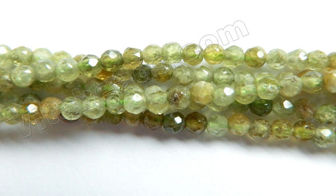 Green Garnet  -  Small Faceted Round  15""