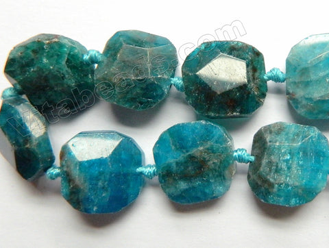 Apatite Natural A  -  Faceted Square w Knots  16""