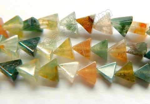 Fancy Jasper A  -  Flat Small Triangle Beads  15""