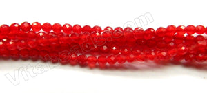 Big Red Jade AAA  -  Small Faceted Round  15""
